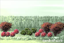 Garden design:Simple fence covering