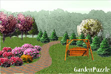 Garden design:Winding road