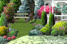 Garden design:path to the arbor...