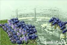 Garden design:Blue river