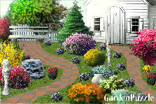 Garden design:house in the hills
