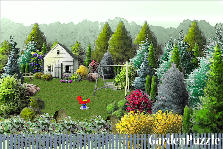 Garden design:in the trees