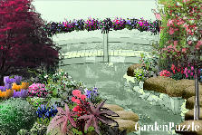 Garden design:bridge