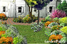 Garden design:Little house
