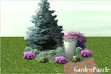 Garden design:back yard garden