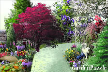 Garden design:flowery path