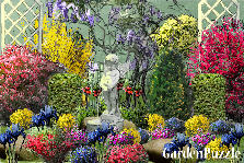 Garden design:mixed flowers