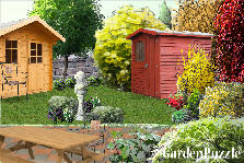 Garden design:summer house