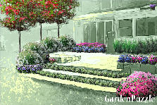 Garden design:Back Porch Extrodinaire