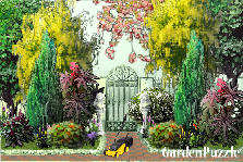 Garden design:before gate