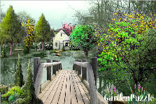 Garden design:over pond