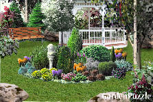 Garden design:Abies