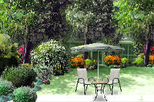 Garden design:front of the house...