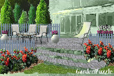 Garden design:relax in the backyard