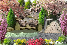 Garden design:rock pond