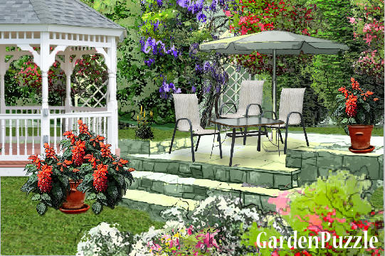 Garden design:on terrace - Spring