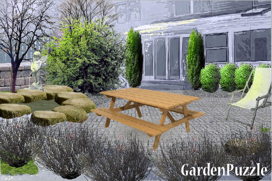 Garden design:august summer - Winter
