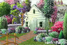 Garden design:pink and purple