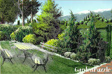 Garden design:mountain
