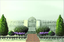 Garden design:Cody symmetric