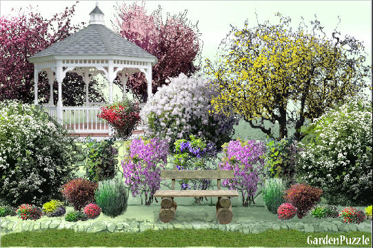 Full sun garden gardenpuzzle online garden planning tool for Garden designs for sun