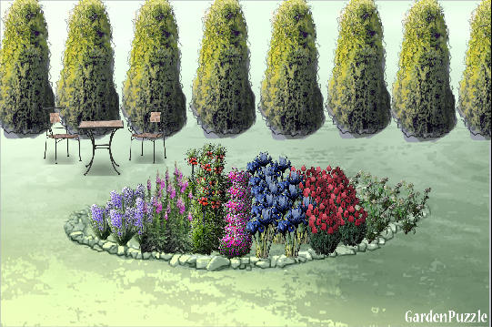 Garden design:First flower garden - Spring