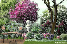 Garden design:romantic