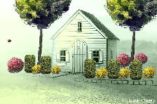 Garden design:cottage/garage
