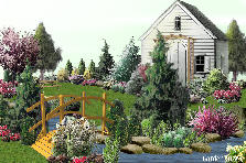 Garden design:Cottage by the Spring