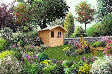 Garden design:green relax place