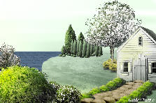 Garden design:Lakeside cottage retreat