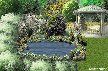 Garden design:Willow Pond