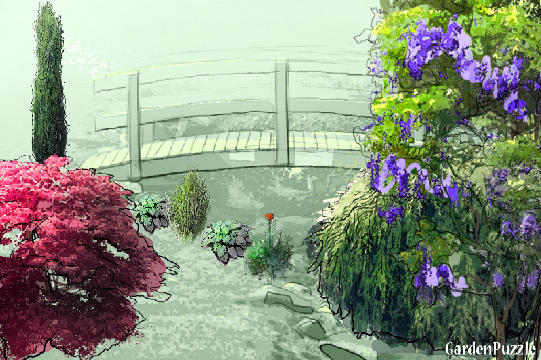 Garden design:The Bridge - Spring