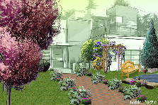 Garden design:my house