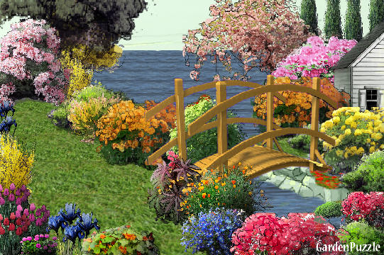 Garden design:ponte e flores - Spring