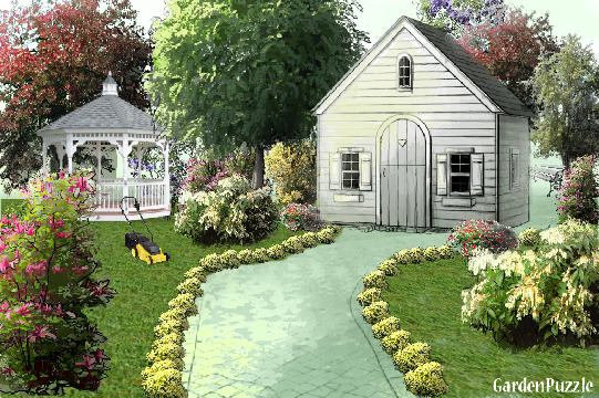 Garden design:Firs work with a house - Spring