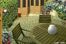 Garden design:courtyrd