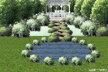 Garden design:White Gazebo