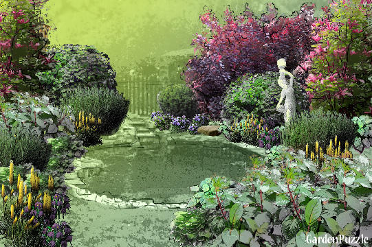 Garden design:Shady Southern Garden - Spring
