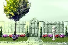 Garden design:Simple Entrance