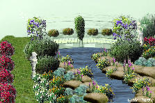 Garden design:paradise bridge