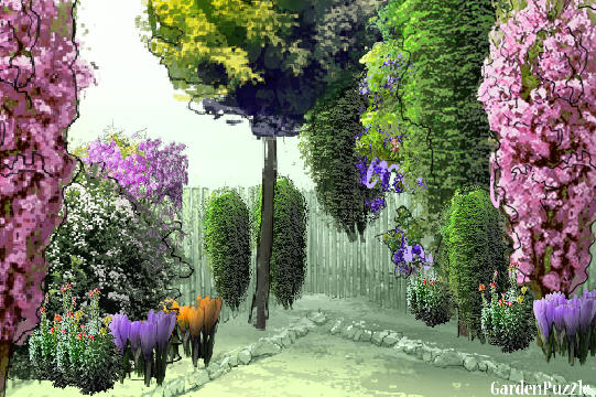 Garden design:garden puzzle - Spring
