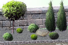 Garden design:Balls