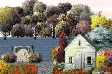 Cottage By The Lake - Autumn