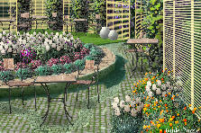 Garden design:CAFE - GARDEN - My version (Yellow fantasy)