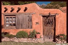 Santa Fe adobe home - Autumn
