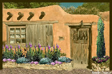 Santa Fe adobe home - Summer