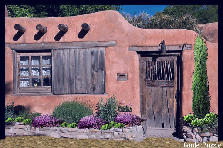 Santa Fe adobe home - Winter