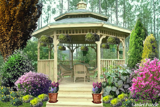 Garden design:North Carolina bandstand - Spring