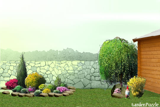 Garden design:Cursova - Spring